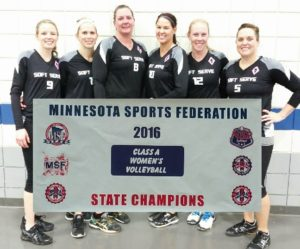CLASS A WOMEN'S STATE CHAMPION: SOFT SERVE, ST. CLOUD; Runner-up: Functional Fitness, Redwood Falls