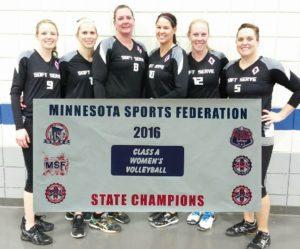CLASS A WOMEN'S STATE CHAMPION: SOFT SERVE, ST. CLOUD; Runner-up: Functional Fitness, Redwood Falls
